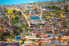 Cidade de Valparaiso, o Chile Foto de Stock Royalty Free