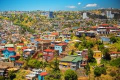 Cidade de Valparaiso, o Chile Fotos de Stock Royalty Free