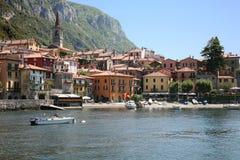 Cidade de Varenna no lago Como, Italy Foto de Stock