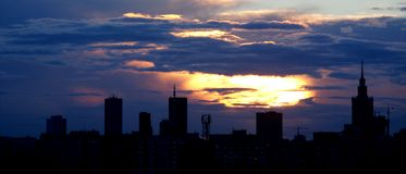 Cidade de Varsóvia fotos de stock