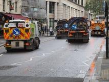 Cidade de vassouras de rua de Londres Fotos de Stock Royalty Free