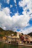 Cidade de Vernazza, Itália. Fotos de Stock Royalty Free