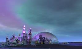 Cidade de vidro fotografia de stock royalty free