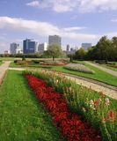 Cidade de Viena e parque de Danúbio imagens de stock royalty free
