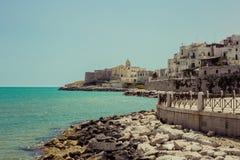 A cidade de Vieste, Italia Imagem de Stock Royalty Free