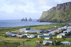 Cidade de Vik, Islândia foto de stock