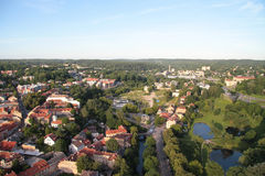 Cidade de Vilnius & de x28; Lithuania& x29; , vista aérea Fotos de Stock Royalty Free