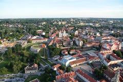 Cidade de Vilnius & de x28; Lithuania& x29; , vista aérea Imagem de Stock