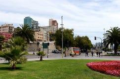 A cidade de Vina del Mar, o centro administrativo da municipalidade homónima, parte da província de Valparaiso fotografia de stock