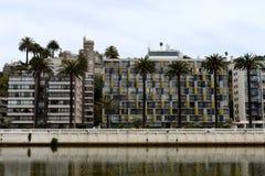A cidade de Vina del Mar, o centro administrativo da municipalidade homónima, parte da província de Valparaiso imagens de stock