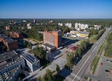 Cidade de Visaginas em Lituânia Cidade famosa devido ao central nuclear fotos de stock