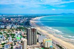 Cidade de Vung Tau e costa, Vietname Imagens de Stock Royalty Free