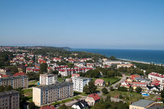 Cidade de Wladyslawowo Foto de Stock Royalty Free