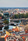 Cidade de Wroclaw de cima de Fotos de Stock