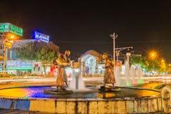 Cidade de Yazd na noite Fotos de Stock Royalty Free