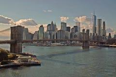 Cidade de York da ponte de Brooklyn Imagem de Stock