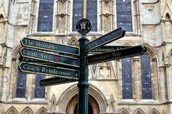 A cidade de York North Yorkshire Inglaterra Imagem de Stock