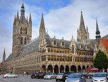 Cidade de Ypres em Bélgica Fotografia de Stock Royalty Free