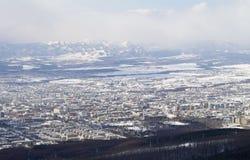 Cidade de Yuzhno-Sakhalinsk Foto de Stock Royalty Free