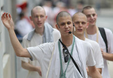 Cidade de Zagreb/lebre multiculturais Krishna Followers Singing Imagem de Stock Royalty Free