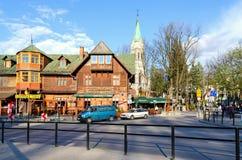 Cidade de Zakopane no Polônia Fotografia de Stock