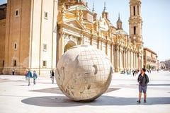 Cidade de Zaragoza na Espanha Imagem de Stock