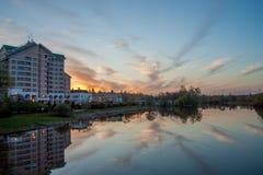 A cidade de Zelenograd moscow Rússia Imagem de Stock Royalty Free