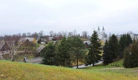 Cidade de Zemaiciu Kalvarija, Lituânia fotografia de stock royalty free