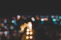 Cidade Defocused borrada Imagem de Stock