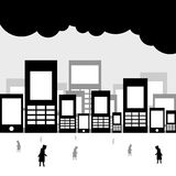 Cidade desalmado Imagem de Stock