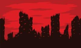 Cidade destruída Fotos de Stock Royalty Free