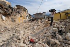 Cidade destruída pelo Fotos de Stock