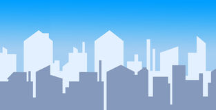 Cidade diária do contorno Foto de Stock