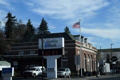 CIDADE DIESTRICT FINANCEIRO DE COLFAX, WASHINGTON foto de stock