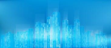 Cidade digital abstrata ilustração stock