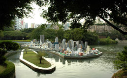Cidade diminuta Imagem de Stock