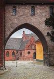 Cidade Dinamarca de Roskilde imagens de stock
