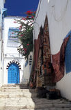 Cidade dita tunisina de Sidi Bou Imagens de Stock Royalty Free