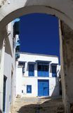 Cidade dita tunisina de Sidi Bou Fotografia de Stock