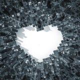 Cidade do amor 2 Fotografia de Stock Royalty Free