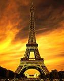 Cidade do amor de Paris Imagem de Stock