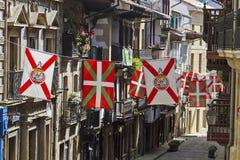 Cidade do basque de Hondarribia fotografia de stock