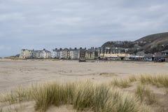 Cidade do beira-mar de Galês Fotos de Stock Royalty Free