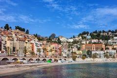 Cidade do beira-mar de Menton em França Imagens de Stock