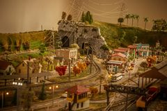 Cidade do brinquedo foto de stock