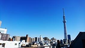 Cidade do céu azul Fotos de Stock Royalty Free