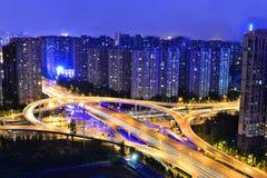 Cidade do centro de Chengdu, Sichuan China fotos de stock