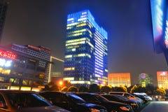 Cidade do centro de Chengdu, Sichuan China fotografia de stock royalty free