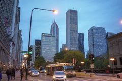 Cidade do centro de Chicago fotos de stock