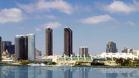 Cidade do centro do oceano de San Diego Cityscape View From Pacific video estoque